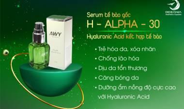 Sở hữu làn da trắng xịn mịn cùng Serum H- Alpha 30 Hàn Quốc